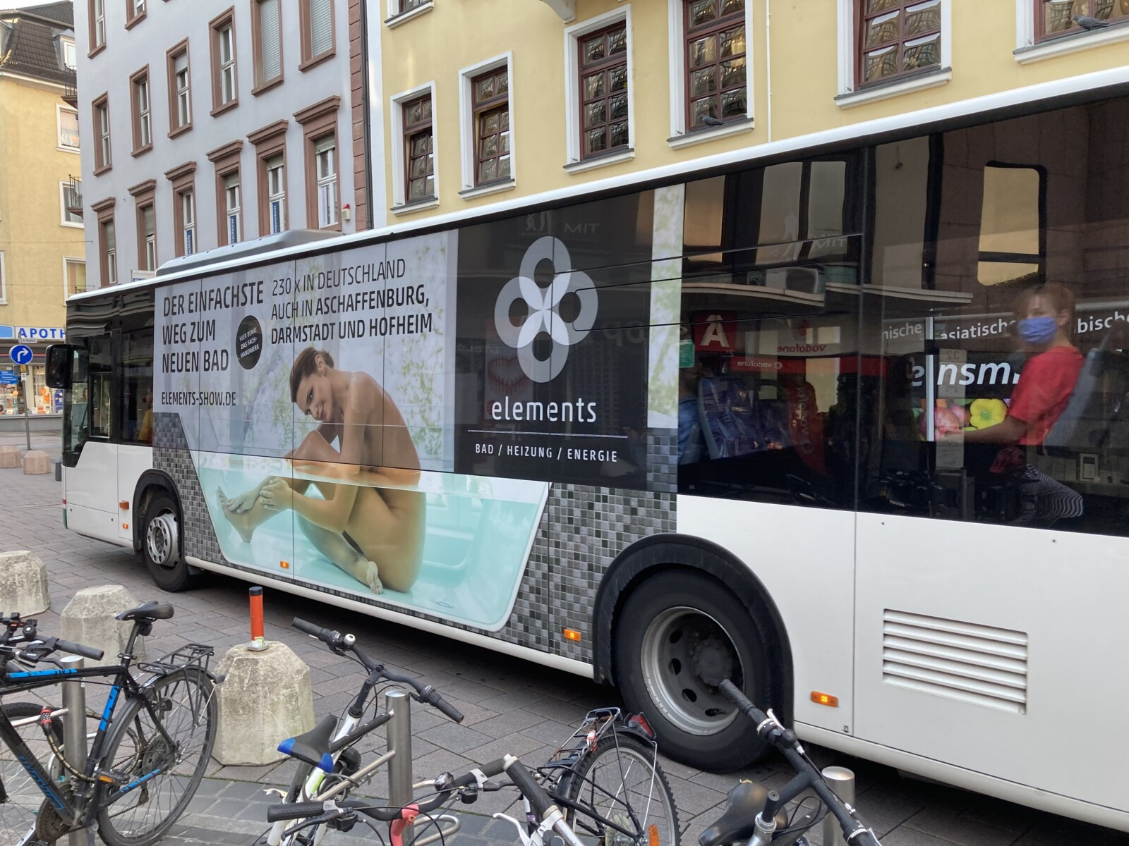 Werbetechnik Omnibus Beschriftung