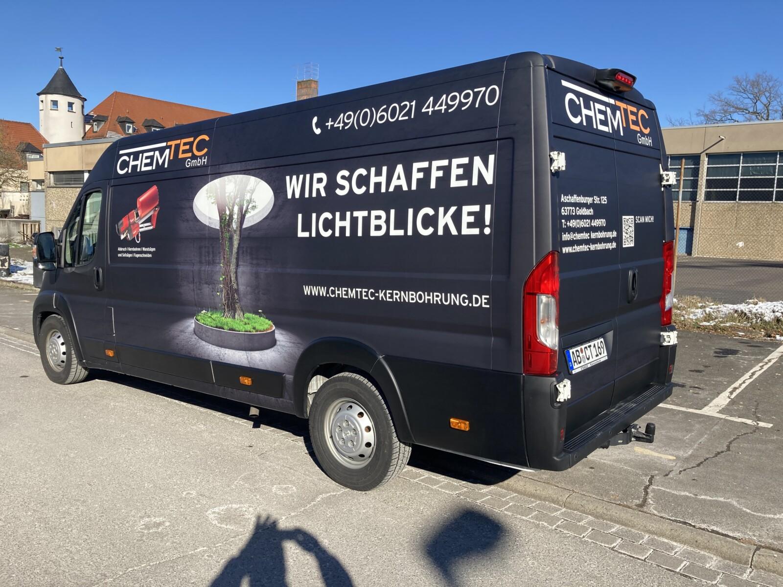 Werbetechnik Transporter Vollfolierung