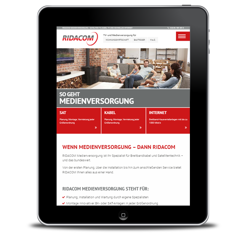 Website Ridacom